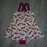 Германия Фиолетовый купальник платье на девочку с памперсом 3-4 года 98-104 см