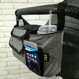 Льняная сумка органайзер на коляску