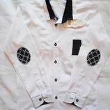 Белые рубашки с черными нашивками, 6 - 13 лет