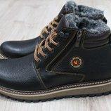 Мужские зимние ботинки из натуральной кожи, код ks-2662