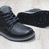 Мужские зимние ботинки из натуральной кожи, код ks-2661