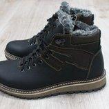 Мужские зимние ботинки из натуральной кожи, код ks-2644