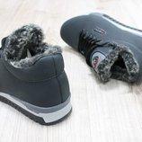 Мужские зимние ботинки из натуральной кожи, код ks-2697