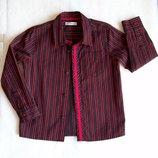 Рубашка красно-черная M&S, длина 45 см.