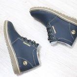 Мужские зимние ботинки из натуральной кожи, код ks-2812