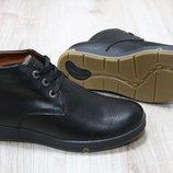 Мужские зимние ботинки из натуральной кожи, код ks-2118