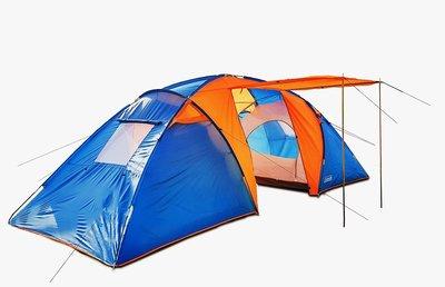Палатка шестиместная две комнаты и тамбур Coleman 1002