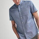 Оксфордская рубашка с коротким рукавом до 5XL