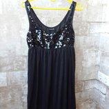 Ginatricot коктейльное платье с пайетками xs