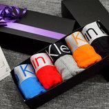Набор 5 шт. Мужское белье Calvin Klein. Подарочная коробка.