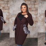 Пальто Ткань кашемир мех съёмный Пальто на подкладке