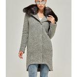 Зимнее пальто с натуральным песцом Бесплатная доставка mnv-59 серый женское пальто натуральный мех