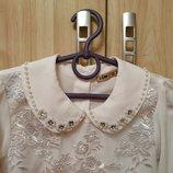 Нарядная белая блуза Турция р.128-134