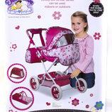 Коляска для кукол с корзиной и сумкой Кукольная коляска складная съемная люлька, сумка