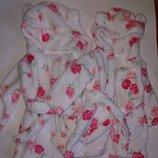 Шикарные халатики на малышек 3-6 мес,8 кг,в наличии 2 одинаковых,сток