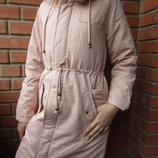 Акция до 25.10 Парка куртка для девочек, деми/еврозима,158-164-170, Венгрия