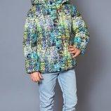 Акция модная крутая куртка жилет 2в1 для мальчика, Пиксель 4-8 лет