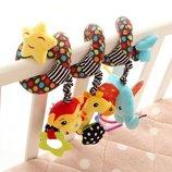 Подвеска спираль с игрушками на кроватку/коляску W097B