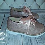 Шикарный туфли девочке на шнурках, оксфорды