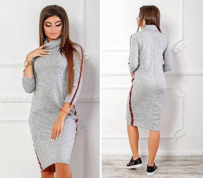 d2fc5b9a5d1 Продано  Стильное женское платье средней длины 1126 Ангора Хомут Лампасы  Гуччи в расцветках.