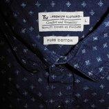 Мужская рубашка безрукавка джинсовая синяя Tu L asos burton