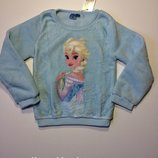 Детская флисовая толстовка свитшот Disney на девочку 6-7 лет, рост 116-122