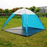 Тент пляжный Green Camp 1045 Размеры 220х220х160см.
