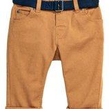 Оригинальные хлопковые брюки на подкладке от бренда H&M разм. 80 9-12M