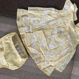 0-3 мес нежный новый набор комплект платье и трусики новый