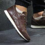 Кроссовки мужские Reebok brown, натур.кожа