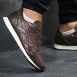 Кроссовки мужские кожа Reebok dark brown