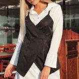 Платье-Рубашка батист твид скл.1 арт.44096