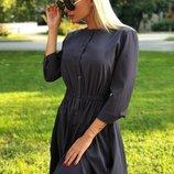 Платье-Рубашка ткань софт серогоо цвета скл.1 арт.43880