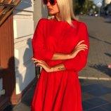 Платье-Рубашка ткань софт крассного цвета скл.1 арт.43875