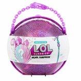 Большой шар Лол перл жемчужина L. O. L. Surprise Pearl Style LOL фиолетовая розовая большая