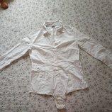 Esprit белая рубашка - боди комбидресс р 12/40