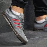 Кроссовки мужские Adidas gray/red 5988