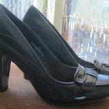 Туфли темно-синие 38 размер