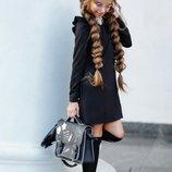 Платье школьное на девочку креп с воротом