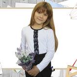 Блуза с длинным рукавом рост 116-152