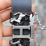 Кожаный чорный ремень Hermes Хермес Гермес, хермес лошадь