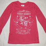Розовая футболка H&M на ребенка 4-6 лет Рост 110-116 см.
