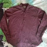 Мужская рубашка,красивого бордового цвета р.ХЛ