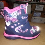Зимние теплые сапожки 27-32 р. B&G на девочку, биджи, би-джи, сапоги, ботинки, термо, зимові