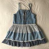 Набор сарафан платье , болеро кофта , косынка на 110-122 см, 5-7 лет