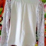 Кофточка, реглан, блузка белая