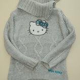 Теплый вязанный свитерок Китти 3-5 лет