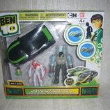 Фигурки героев Ben 10 в наборе 2 фигурки машина, Ben&Kevin 3 вида