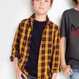 Рубашка в клетку с длинным рукавом 3-16 лет
