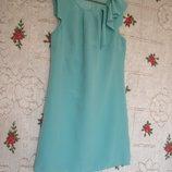 Супер платье бирюзовое,р.8 oasis ,100%шелк.